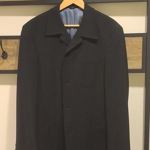 Mens Black Wool Suit Jacket